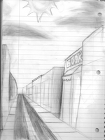 quick sketch down town by Cobean