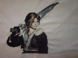 Squall Leonhart(Final Fantasy VIII) - Cross Stitch by Melian-Vidumavi