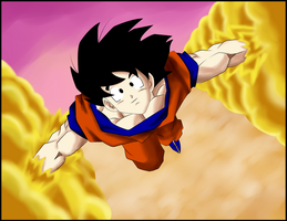 son goku goes to heaven by POLYKRPIO