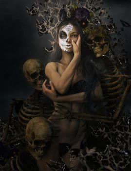 Day of the Dead Girl Fantasy Art by shibashake
