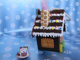 Gingerbread House Ornament-Side View 2 by ThePetiteShop