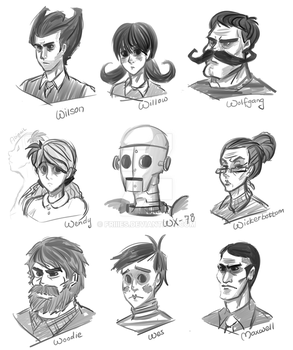 Don't Starve Characters by Friiies