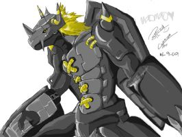 Paintchat: Blackwargreymon by Digimitsu