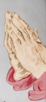 Praying Hands (drawing and photoshop) by maniacaljoker