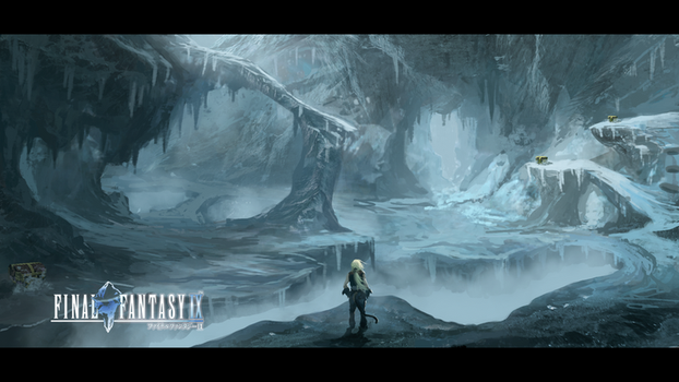 Final Fantasy IX- Ice Cavern Fanart by Hachiimon