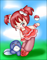Rubi and Poliwag by Sakurarmarie