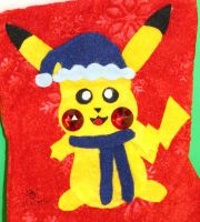 Pikachu Stocking (Winter Outfit 6) by MeMiMouse