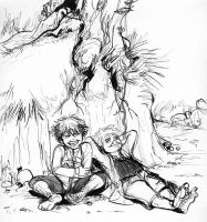frodo laughing by gerre