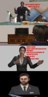 LEON WATCHING TV:A RESIDENT EVIL PARODY by CharonA101