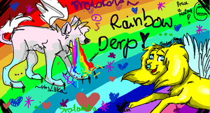 Rainbow DeRp- Collab::::::::::::::.... by Pixel-Candy