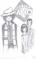 The Fourth Doctor and his companions by sir-Francis-Drake