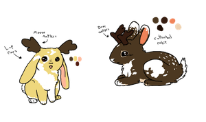 Piebald Jackalope adopts [closed] by The-Bleached-Dalsuta