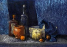 Still life with tangerine by Anastasia-N