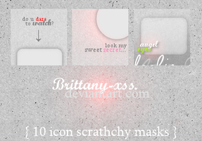 ITextures set01 Scratchy Masks by brittany-xss