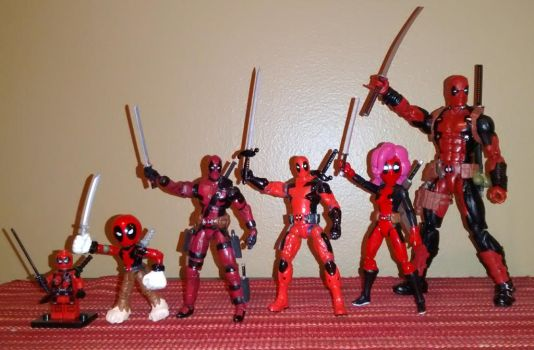My DEADPOOL Corps (new and improved) by ArtKing3000