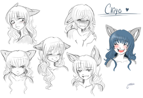 some chiyo expressions by thestoneycoyote
