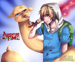 adventure time finn and jake by lasky111