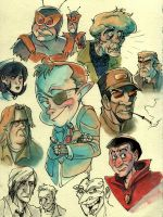 Venture Bros Doodle Dump by mr-book-faced