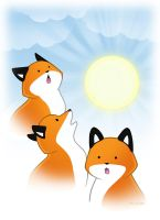 Three Fox Sun by SilentReaper