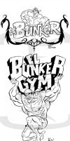 Bunker gym 2 Design T shirt by sapienstoonz