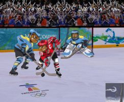 Chipmunks Olympic Hockey by TheSorceressRaven