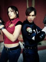 Claire and Leon Cosplay by kaikun2236