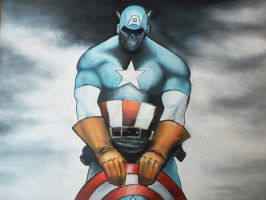 MARVEL ZOMBIES CAPTAIN AMERICA by BUMCHEEKS2