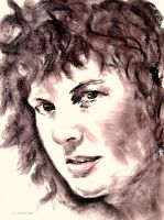 Female Charcoal Portrait by gtsmover