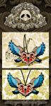 Winged Heart - Tattoo Inspired Necklace by SugarSkullCandy