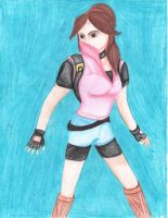 Claire Redfield (Pencil Color) by HALO-Infinity