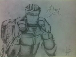 Atom Real Steel Drawing by Azhadizhar