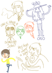 beatles doodles1455667 by Hi3ei