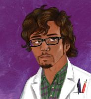 Carlos the scientist by Woschaebedip