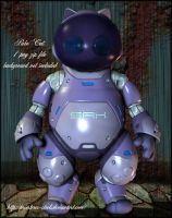 robo cat by priesteres-stock