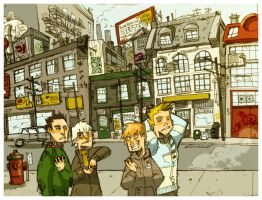 Walk in the city - colour by Cabycab