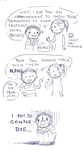 Silly comic -  A chance by crazygrin