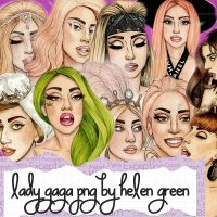 lady gaga png by helen green by lunithalopezgagapng