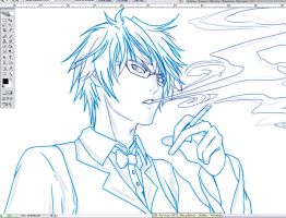 Sketching SHIZUO by Washu-M