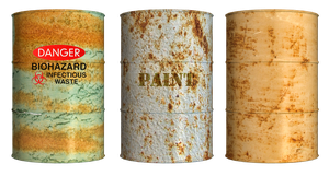 Rusty Drums PNG Stock by Roys-Art