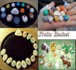 Fruits Basket Stone Zodiac Charms by Frosty-Rain