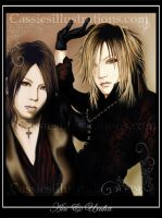 ..::Aoi and Uruha::.. by cassiesillustrations
