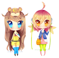 :Oc: :FA:  Miu and pekoki by Amuyuki