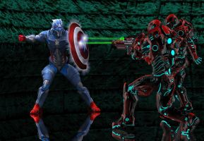 Cap America vs Skull Soldier by hiram67