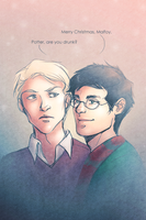 Drarry at Christmas by trowicia