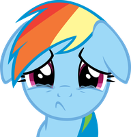 Sad Dashie by CrusierPL