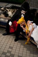 Tuxedo and Serenity - Resting by Sparda-Dante