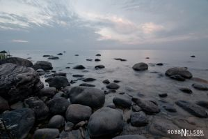Rocky Shoreline by robb-nelson