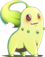 Chikorita from Pokemon Gold and Silver by MatsuoAmon