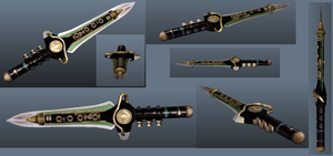 Tommy (Green Ranger) Ocarina Dagger 3D by DarckProductor