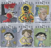 HEROES cards pt. 9 by katiecandraw